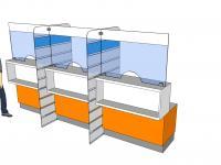 Стеклянные перегородки для столов и стоек