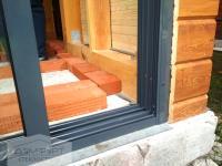 Раздвижная стеклянная дверь для беседки – барбекю